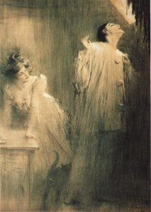 Georges Wague jako pierrot na plakacie Charlesa Léandre'a.